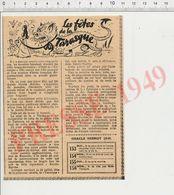 Presse 1949 Les Fêtes De La Tarasque à Tarascon Sainte-Marthe CHV 37 - Vecchi Documenti