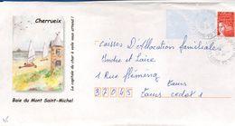 Enveloppe Touristique, Ille Et Vilaine, Cherrueix, Baie Du Mont St Michel, CAD Tours St Paul GA - Mechanical Postmarks (Advertisement)