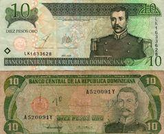 DOMINICAN REPUBLIC  10 PESOS ORO Circ - República Dominicana