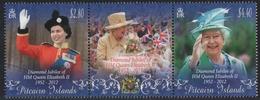 Pitcairn 2012 - Mi-Nr. 855-856 ** - MNH - 60. Jahrestag Der Thronbesteigung - Pitcairn