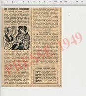 Presse 1949 Les Japonais Et Le Tatouage Japon Tatoueur Hori Tchiyo Et Yaçou + Comtesse De Ségur CHV 37 - Vieux Papiers