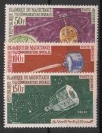 Mauritanie - 1963 - Poste Aérienne PA N°Yv. 27 à 29 - Télécoms Spatiales - Neuf Luxe ** / MNH / Postfrisch - Mauritania (1960-...)