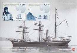 Ross, Bloc N°4 (Centenaire De La 1° Expédition Au Pôle Sud, Scott, Son Dernier Camp ...) Neuf ** - Ross Dependency (New Zealand)