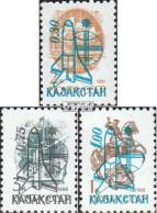 Kasachstan 8-10 (kompl.Ausg.) Postfrisch 1992 Weltraumflug - Kazakhstan