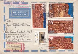 ALLEMAGNE DDR ENVELOPPE CIRCULEE BRANDENBURG A BUENOS AIRES ANNEE 1971 PAR AVION RECOMMANDE -LILHU - [6] Democratic Republic