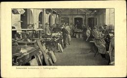 Cp Frankreich, Imprimerie Nationale, Lithographie, Druckwerkstatt - Métiers