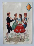Carte Brodée Danse Espagnole - Espana - Girona  ... Lot140 . - Brodées