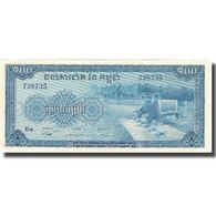 Billet, Cambodge, 100 Riels, Undated (1962-63), KM:13b, SPL - Cambodge