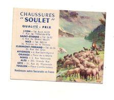 "Petit Calendrier 1956 Chaussures ""Soulet""- Format: 12x9.5 Cm - Calendriers"