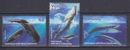 Vanuatu, N° 1110 à 1112 (Cachalot, Baleine à Bosse, Baleine Bleue), Neufs ** - Vanuatu (1980-...)