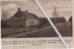 WESTMALLE..1933.. HOVE TE MIDDEN IN DE BOSSEN WAAR EEN ROOFMOORD GEBEURDE HEER TAEYMANS SLACHTOFFER - Unclassified