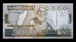 # # # Banknoten Madagaskar (Madagascar) 5.000 Francs UNC- 1993 # # # - Madagascar