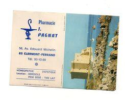 Petit Calendrier 1980 Pharmacie J. Pagnat Clermont-Ferrand - Format: 15x10.5 Cm - Kalenders