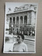 Austria / Vienna - Opera, Tram ? -TAGLICH EXPRES ... ( Real Photo 1966 ) - Vienna Center