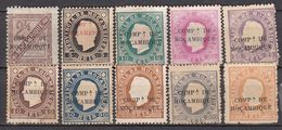 PORTUGAL. Companhia Mocambique – 1911-13.  Diff. Types, Stamps And Overprint - Mozambique