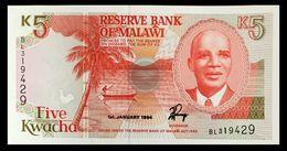 # # # Banknote Malawi 5 Kwacha 1994 UNC # # # - Malawi