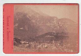 Vue De Bex Et Le La Dent De Morcles - Suisse Vaud    ( ~ 10 X 6 Cm ) - Oud (voor 1900)