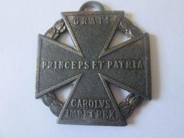 Rare! Original Austro-Hungarian Karl Troop Cross(Karl Truppenkreuz) WWI Medal Instituted On December 13,1916 - Autriche