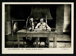 ANDORRA Carte Claverol  Speakers De RADIO ANDORRA Voyagé  17-9-55  2 Scan - Andorra
