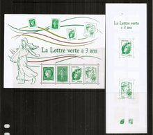 La Lettre Verte à 3 Ans. Bloc-feuillet + Carnet Nr 1521 Neufs ** (carnet De 14 Timbres)  Côte 22,50 Euro - Mint/Hinged