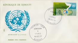 Enveloppe  FDC  1er  Jour   DJIBOUTI    Admission  à  L' O.N.U    1977 - Gibuti (1977-...)