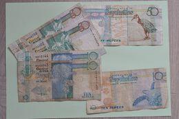 Lot De Billets Des Seychelles : 50 Rupees (3) + 10 Rupees (3) - Seychelles