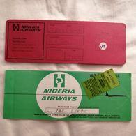 Old Vintage LOT Official Avio Ticket NIGERIA AIRWAYS  Avio Company Airlines '70s.London Lagos - Advertising
