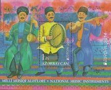 "AZERBAÏDJAN // AZERBAYAN - EUROPA – CEPT 2014 THEME ANNUEL "" INSTRUMENTS De MUSIQUE"" - BLOC FEUILLE - 2014"