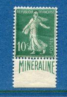 France - YT N° 188A - Timbre Publicitaire Minéraline - Neuf Avec Charnière - 1924 à 1926 - Unused Stamps