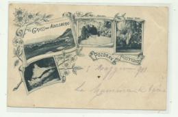 GRUSS AUS ADELSBERG - POZDRAV POSTOINE 1901  - VIAGGIATA  FP LIEVE PIEGA - Slowenien