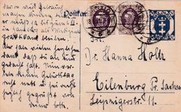 Postkarte Danzig Frei Stadt>Eilenburg 1921 - Altri - Europa