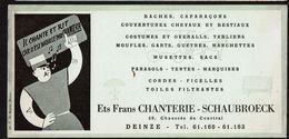 Buvard Publicitaire  21 X 10 Cm - Ets Frans CHANTERIE - SCHAUBROECK - Chaussée De Coutrai DEINZE - 2 Scans - Papel Secante