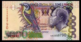 # # # Banknote Tome Und Principe 5.000 Dobras 1996 UNC # # # - Sao Tomé Et Principe