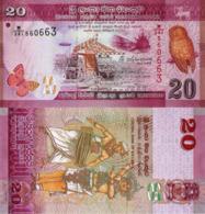 SRI LANKA, 20 Rupees, 2015, P123, UNC - Sri Lanka
