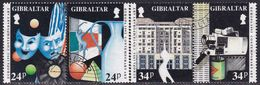 GIBRALTAR 1993 SG #690-93 Compl.set In Two Horiz.pairs Used Europa. Contemporary Art - Gibraltar