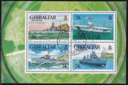GIBRALTAR 1993 SG #MS694 M/s Used WWII Warships (1st Series) - Gibraltar