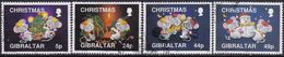 GIBRALTAR 1993 SG #713-716 Compl.set Used Christmas - Gibraltar