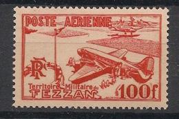 Fezzan - 1948 - Poste Aérienne PA  N°Yv. 4 - 100f Rouge - Neuf Luxe ** / MNH / Postfrisch - Fezzan (1943-1951)