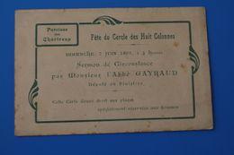 INVITATION-FAIRE PART-1903-PAROISSE EGLISE DES CHARTREUX-FÊTE DU CERCLE 8 COLONNES-CPA-Carte Postale[13]Bouches-du-Rhône - Announcements