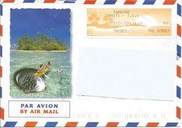 TAHITI Eneveloppe Avec Vignette D'affranchissement Au 23/01/2004 - Tahití