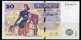 # # # Banknote Tunesien (Tunisia) 20 Dinare 1992 AU # # # - Tunisie