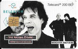 TC-PUCE-BELGIQUE-200 BEF-SO3-2000-CHANTEURS-ROLLING STONES-Utilise-TBE - - Musik