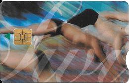 CARTE-PUCE-AFRIQUE Du SUD--SPORT-SO3-Exp 2002-NATATION-Utilisé-TBE - Sport