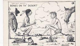 BONES ON TH' DESERT , Indian & Cowboy Play Dice , 50-60s - Indiens De L'Amerique Du Nord
