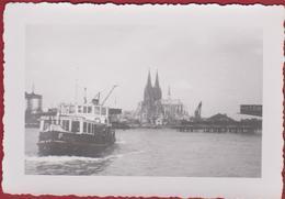 Old Original Photo (7x9.7cm) Oude Alte Foto Koln Keulen Cologne After World War 2 II WW2 WWII Deutschland Allemagne - Oorlog, Militair