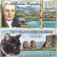 Kerguelen - 100 Francs 2014 UNC SPECIMEN Lemberg-Zp - Billets