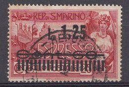 Saint-Marin  1927 Mi.nr.:136 Aufdruck Eilmarke    OBLITÉRÉS / USED / GESTEMPELD - Saint-Marin
