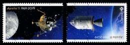 Canada (Scott No.3187a - Flight Of Apollo 11) (o) Adhesive From BK - 1952-.... Règne D'Elizabeth II