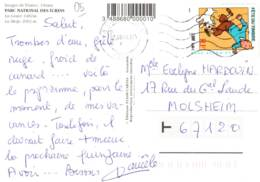 3 F 0.46 € Fête Du Timbre - Tintin Et Milou - 07/08/00 Sur CP De L'Alpe D'Huez 38 à Molsheim 67 - France