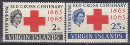VIRGIN ISLANDS 137-138,unused,red Cross - British Virgin Islands